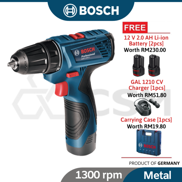GSR120-LI-COC-Gen2 Bosch Li-Ion Battery Screwdriver 12V2.0Ah 06019G80L0