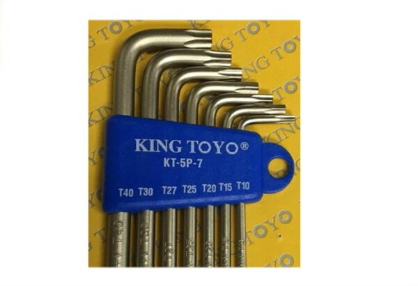 6020080906-KING TOYO-KT-5PT-7p King Toyo 5Point Star Wrench Key Set
