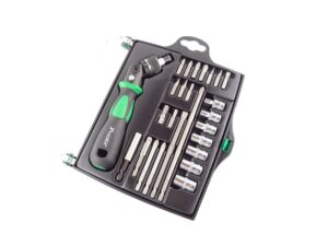 8020080032-PROSKIT-SD-2314M 25 In 1 Reversible Ratchet Screwdriver W-Bits & Sockets Set, Pro'sKit