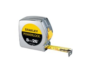 6020130236-STANLEY-STHT33428-8 Stanley 8m-26ft Power Lock Measuring Tape