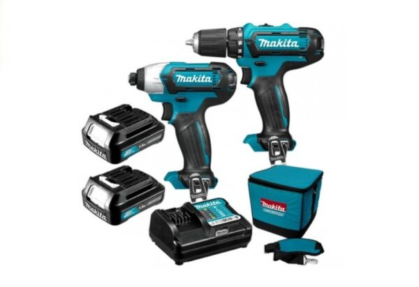 6010010122-MAKITA-CLX201-DF331D TD110D-12V-LI Combo kit Makita Li-Ion Battery Driver Drill 2x12V-2.0Ah BL1021B DC10WD