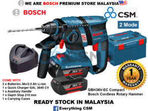 6010060007-BOSCH-Compact GBH36V-EC Bosch Li-Ion Battery Rotary Hammer 36V-2.0Ah 0611903RL1