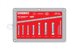 6020020056-KENNEDY-KEN5811450K 7P 6-19mm Kennedy Box Spanner Set With Tommy Bars||