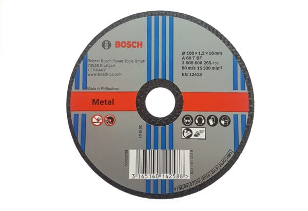 604007005001-BOSCH-25p 4inx1.2mm Thin Bosch Cutting Disc 100x1.2x16mm 2608600266