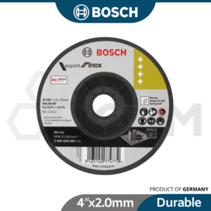 6040070070-BOSCH 4″x2.0mm Expert Inox Flexible Grinding Disc [100×2 (9)
