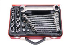 8020030019-KENNEDY-KEN5823980K 23P 10-19mm Ratchet Spanner & Socket Set.png||||