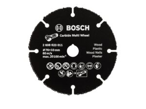 8040070009-BOSCH-76x1x10mm BOSCH CARBIDE MULTI WHEEL 2608623011