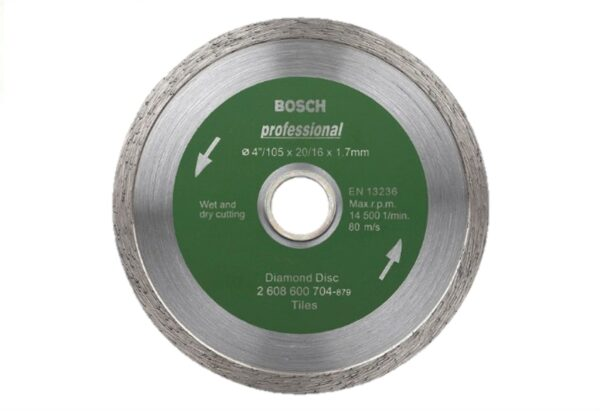 8050070172-BOSCH-4in-105mm Tile Marble Bosch Diamond Disc 2608600704