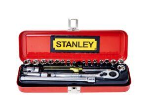 6020020078-STANLEY-89-507-23 21p 5~13mm + 3-16~1-2in 1-4Dr-6Pt Stanley Box Socket Set6020020078-STANLEY-89-507-23 21p 5~13mm + 3-16~1-2in 1-4Dr-6Pt Stanley Box Socket Set