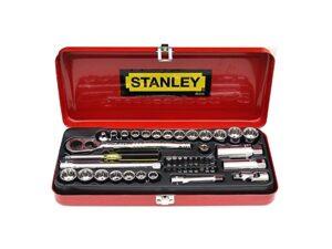 6020020080-STANLEY-89-516 46p 3-8Dr-12Pt MM&Inch Stanley Box Socket Set