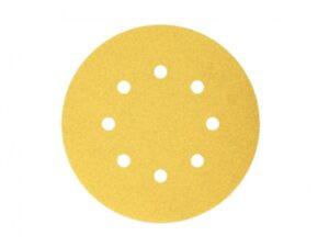 604003014101-BOSCH-50p G100 125mm 8Holes Velcro Bosch Sanding Disc 2608608T66
