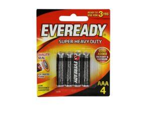 6080060033-EVEREADY-4p AAA 1212BP4 1.5v R03 Eveready Battery