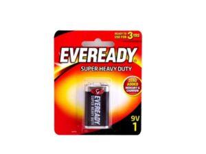 6080060054-ENERGIZER-1p 9V 1222BP1 6F22 Eveready Battery