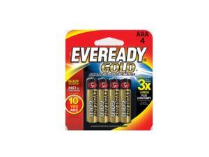 6080060065-EVEREADY-4p AA A91BP4 1.5v R6 Gold Eveready Battery