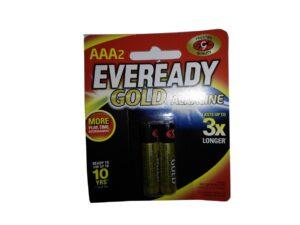 6080060066-EVEREADY-2p AAA A92BP2 1.5v R6 Gold Eveready Battery