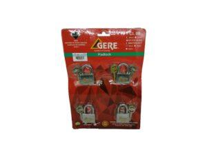 6080160020-2-GERE-CL95 40-4p Master Gere Brass Padlock 40mm
