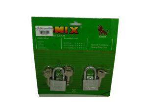 6080160093-SONIX-402KAL Chrome Padlock 40mmx2p
