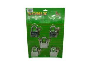 6080160100-SONIX-404KAL Chrome Padlock 40mmx4p