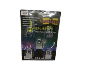 6080160145-HD401X5-KAL Cyber Chrome Padlock 40mmx5p