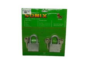 6080160166-SONIX-502KAL Chrome Padlock 50mmx2p