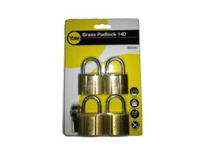 6080160185-Yale-V140-40KA-4p Yale KAL Brass Padlock 40mm