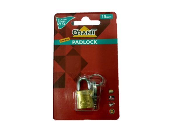 6080160241-GERE-CL54-15mm Gere Brass Padlock