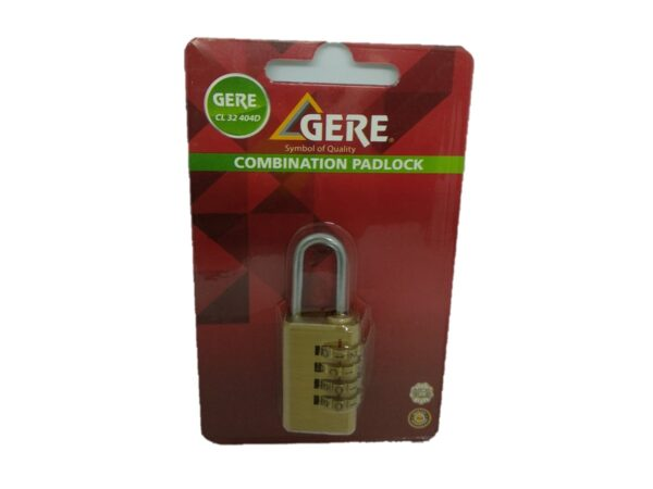 6080160658-GERE-CL32404D-40mm 4Digit Gere Luggage Padlock