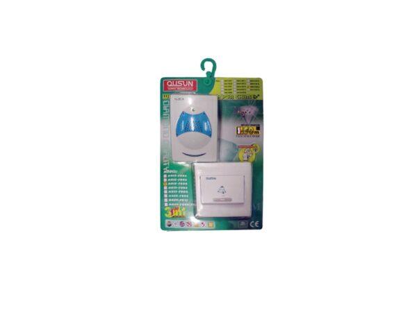6110020047-QUSUN-OT-DB-D015D2 Wireless AC Doorbell 3music 1to1