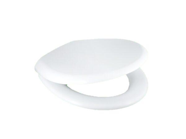 6150060209-TECHPLAS-White-4129 Soft Close Medium Duty Techplas Toilet Seat Cover