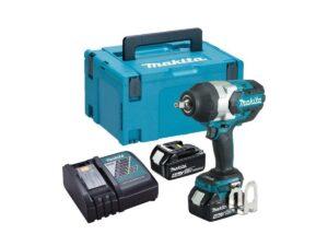 6010010115-MAKITA-DTW1002RMJ-1-2in-18V-LI Makita Li-Ion Battery Impact Wrench 2x18V-4.0Ah 0-2000ipm 1000N.m BL1840+DC18RC