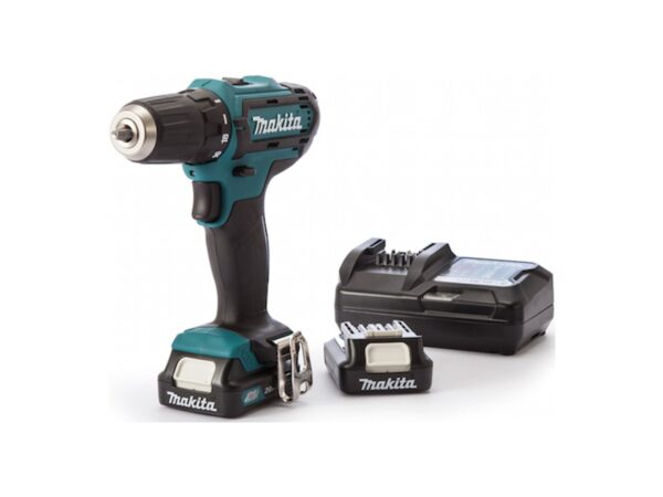 6010010119-MAKITA-DF331DWAE-10mm-12V-LI-Chulk Makita Li-Ion Battery Driver Drill 2x12V-2.0Ah BL1021B+DC10WD