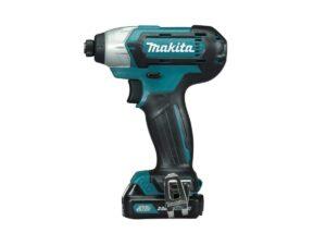 6010010121-MAKITA-TD110DWAE-1-4in-12V-LI Makita Li-Ion Battery Driver Drill 2x12V-2.0Ah BL1021B+DC10WD||||