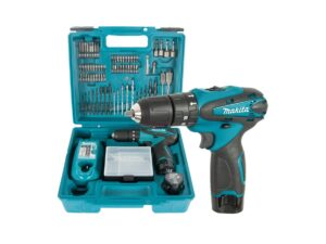 6010010125-MAKITA-HP330DX100-10.8V-LI Makita Li-Ion Battery Impact Drill 2x10.8V-1.3Ah BL1013+DC10WA||||||