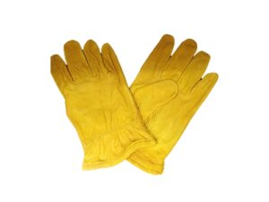 6030040059-CSM-1pr N7550-10in Beigie Golden Cowgrain CSM Leather Glove M21