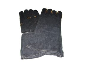 6030040061-CSM-1pr 13in Black M21-7111 Full Leather Glove