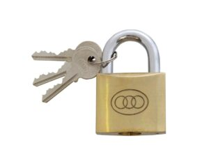 6080160175-TRI-CIRCLE-1p 267-75mm Tri-Circle Brass Padlock