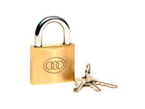 6080160336-TRI-CIRCL-E1p 261-20mm Tri-Circle Brass Padlock||