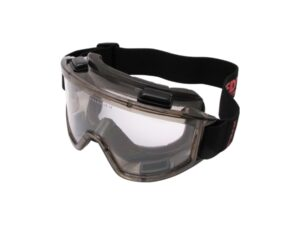 8030020008-KENNEDY-KEN9608140K Tiger Smoke Goggles Vented Clear-Anti-Fog Lens