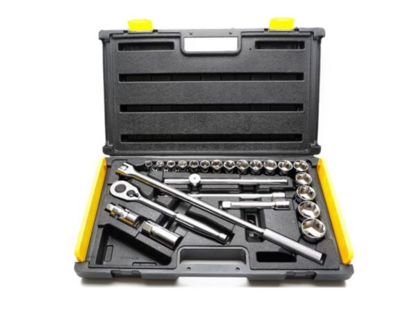 6020020115-STANLEY-86-589-1 25p 10-32mm 1-2Dr-6Pt Stanley Box Socket Set