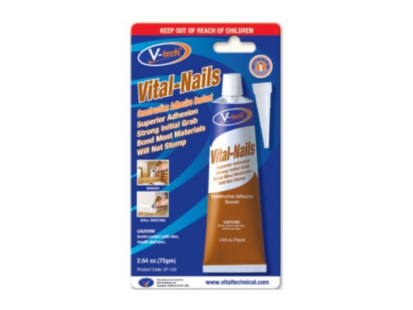 6070050080-V-TECH-75gm VT133-Beige V-Tech Vital-Nails Construction Adhesive Sealant