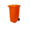 6110100283-CSM-120L Orange CSM Two Wheel Mobile Garbage Dustbin With Cover