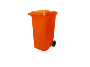 6110100283-CSM-120L Orange CSM Two Wheel Mobile Garbage Dustbin With Cover||6110100283-6100110131-CSM
