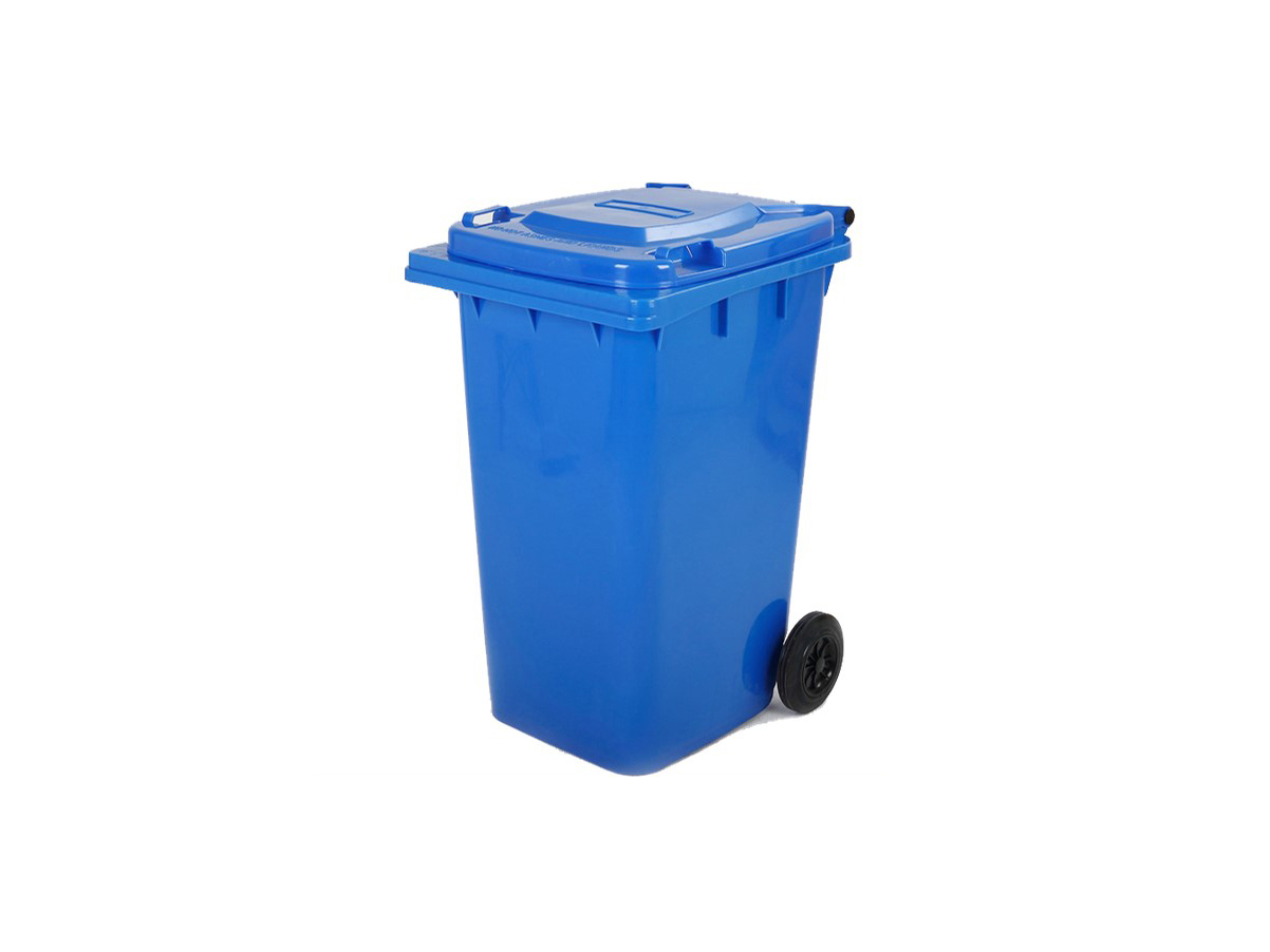 6110100407-CSM-120L Blue CSM Two Wheel Mobile Garbage Dustbin With Cover
