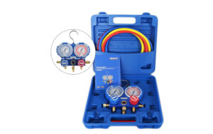 6080070150-CSM-VMG-2-R410A-B Value Manifold Gauge Set With 3px5ft Hose R410