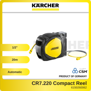 6150260062 - KARCHER CR7.220-20M-12in Automatic Garden Hose Compact Reel With Hose 2.645-218.0