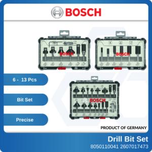 8050110041 - BOSCH 14″ Shank Straight Bit Set Trim & Edging Set Mixed Bit Set [6-13pcs]