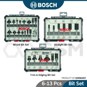 8050110041 BOSCH 14 Shank Straight Router Bit Set Trim & Edging Set Mixed Bit Set [6pcs] 5