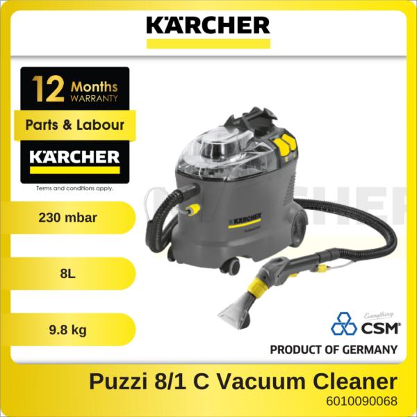 6010090068-KARCHER-Puzzi-81-C-8L-Spray-Extraction-Karcher-Profesional-Carpet-Cleaner-9.8KG-1200W-230MBARS-240V-1.100-225-1