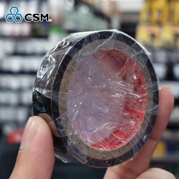 CSM Global Black Yellow Red Blue Green White PVC Insulation Tape Strong Adhesive Electrical Repair Tools [18mm x 7yard][1pcs]