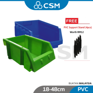 6080020004-CSM PVC Tool Box Blue, Black, Green [18-48cm]